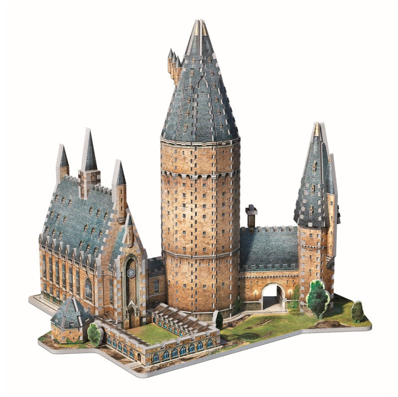 Harry Potter Hogwarts Great Hall 3D puzzle by Wrebbit , finished model- Peach Perfect
