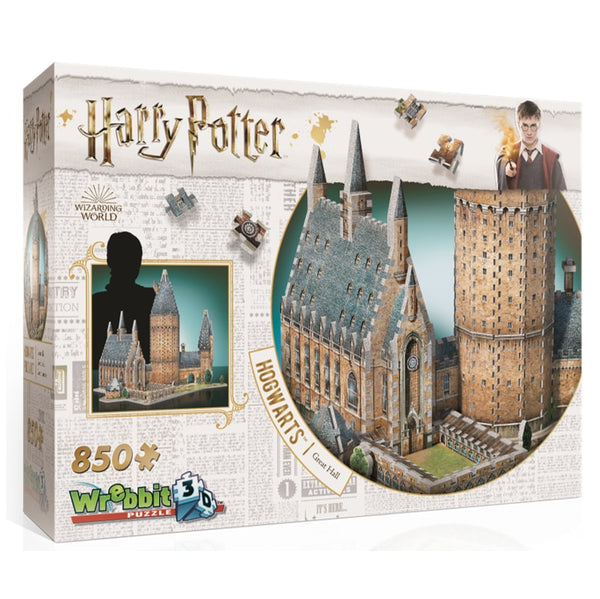 Harry Potter Hogwarts Great Hall 3D puzzle by Wrebbit - Peach Perfect
