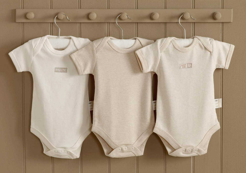 Organic Cotton Bodysuits - set of 3 - Peach Perfect