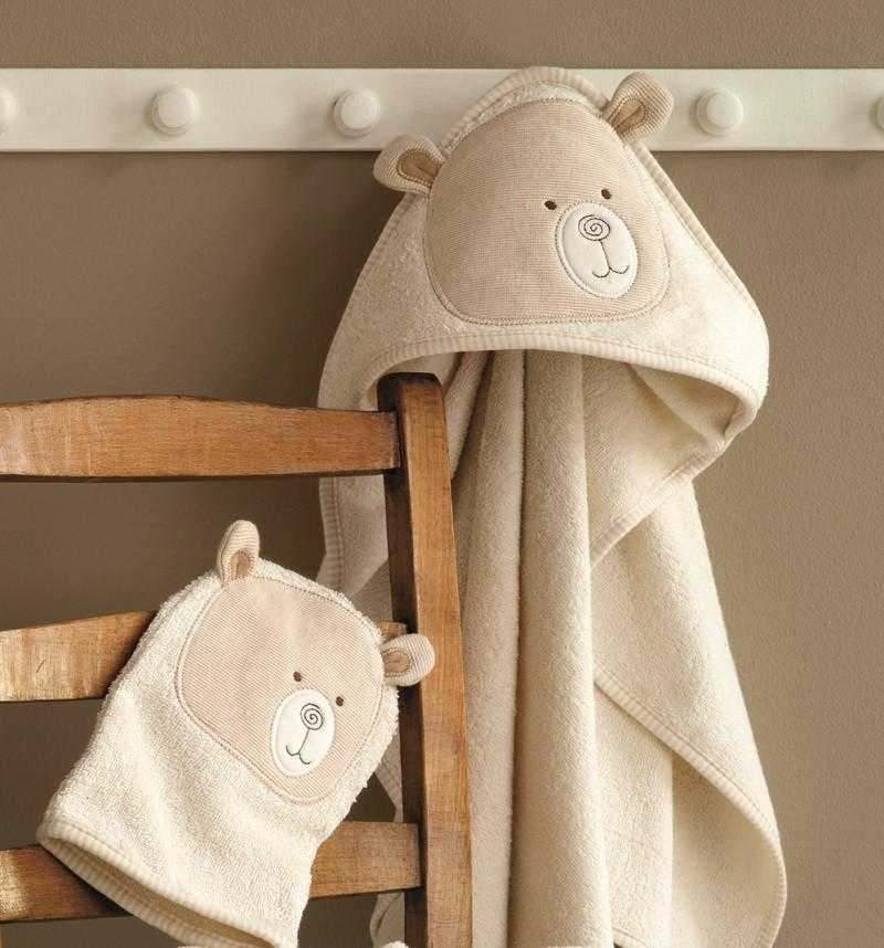 Organic Cotton Baby Cuddle robe & Wash Mitt - Peach Perfect