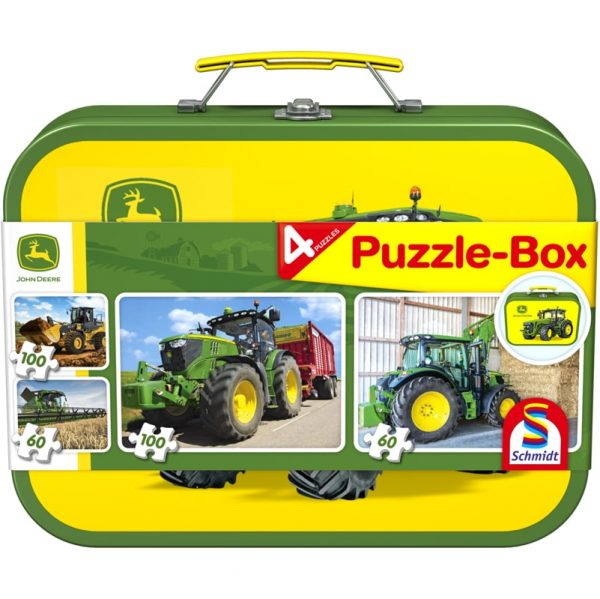 John Deere tractor puzzle box by Schmidt - Peach Perfect