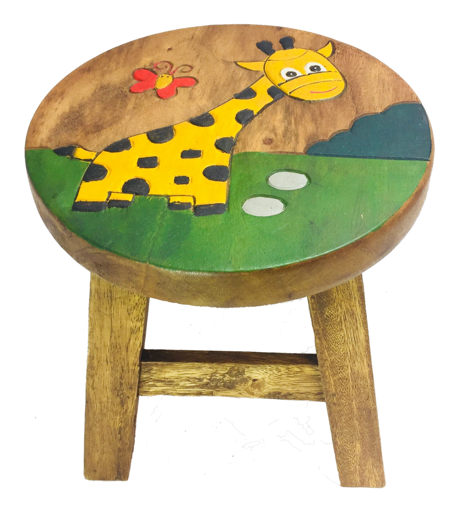 Kid's Fair Trade Giraffe Stool