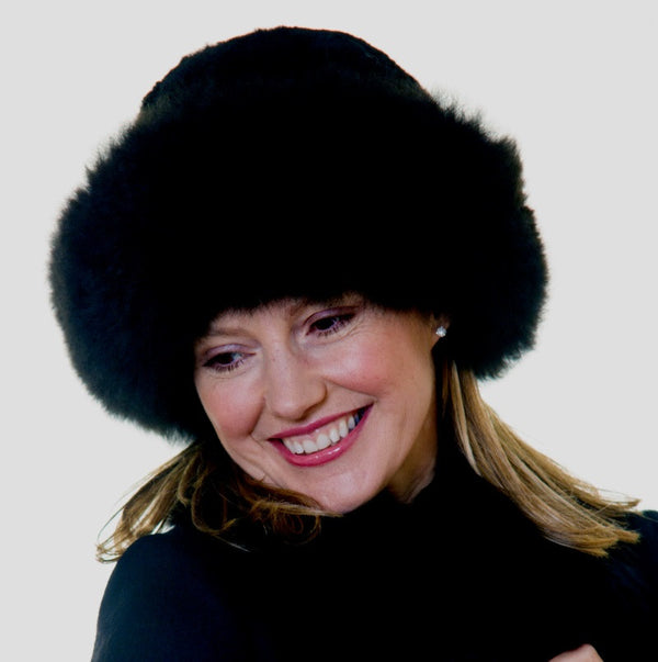 Luxury Alpaca Fur Hats - Peach Perfect - 1