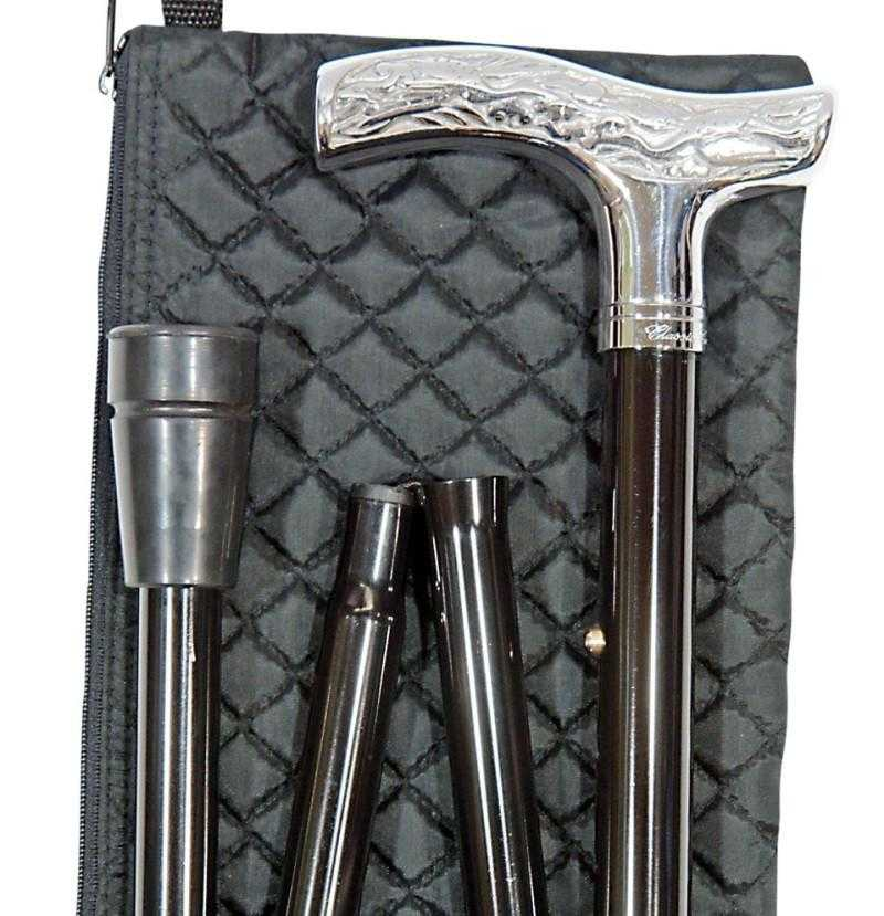 Men's Folding Canes - Chrome - Peach Perfect