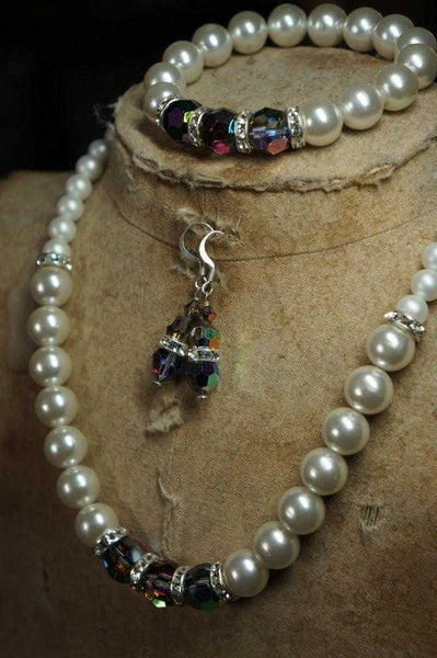 Vintage Swarovski Pearl & Vitrail jewellery - Peach Perfect