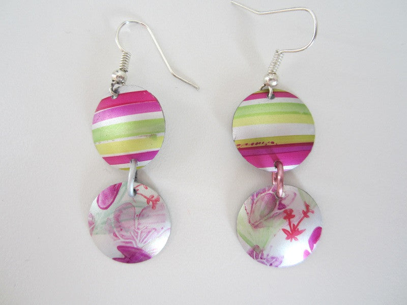 Aluminium Earrings by Cherry green - Peach Perfect - 4