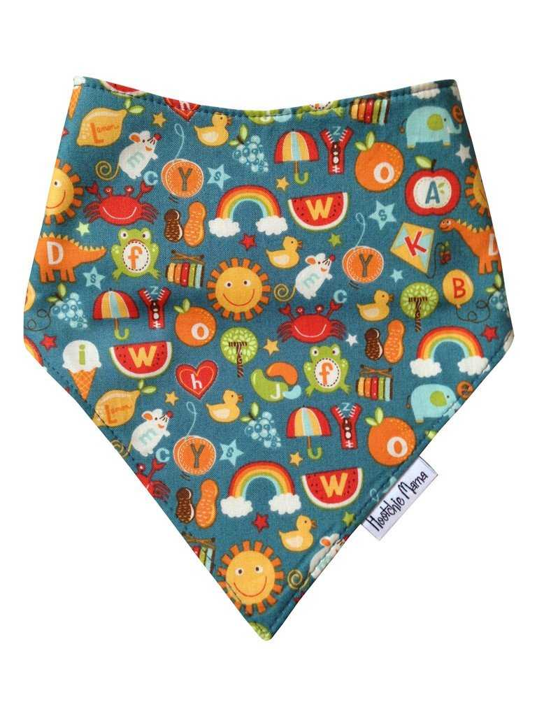Bandana dribble bib -schooldays - Peach Perfect