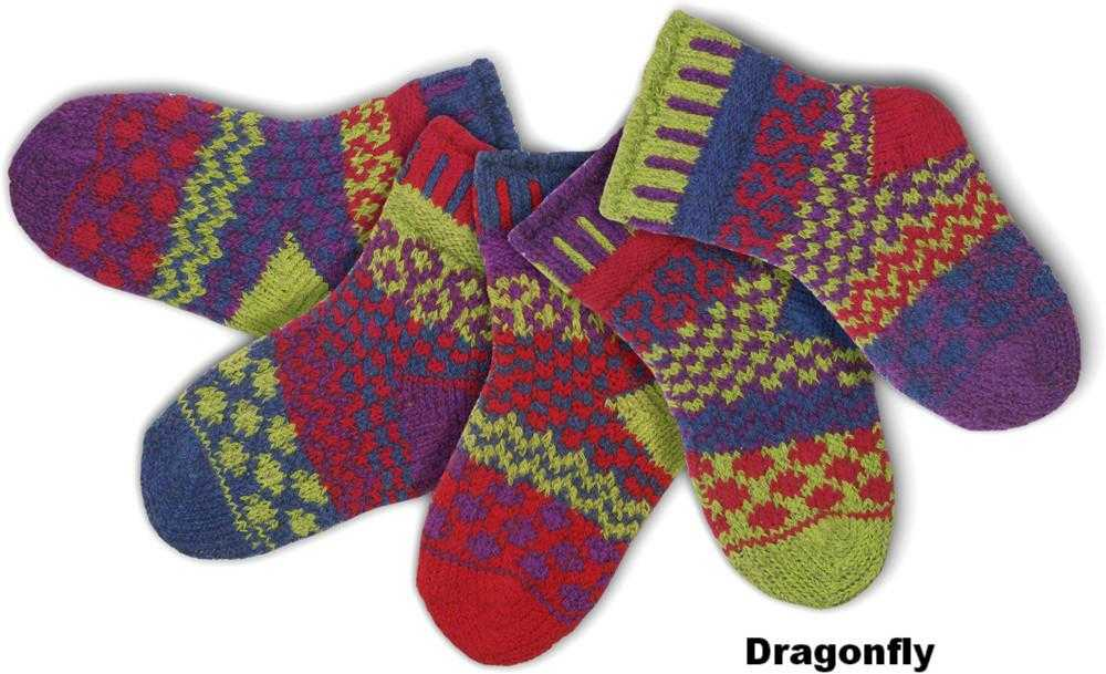 Solmate Infant Socks - Dragonfly - Peach Perfect