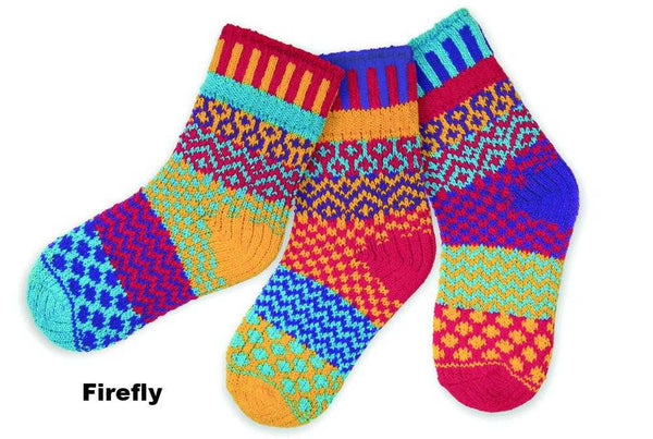 Solmate Children's Socks - Firefly - Peach Perfect