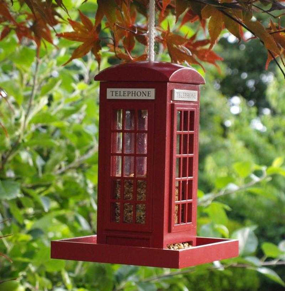 Decorative Bird Feeders - Telephone box - Peach Perfect