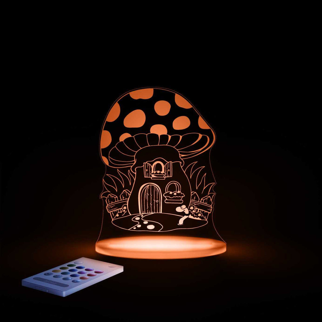 Aloka toadstool night light changes colour - Peach Perfect