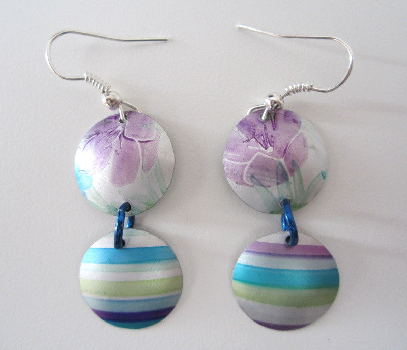 Aluminium Earrings by Cherry green - Peach Perfect - 1