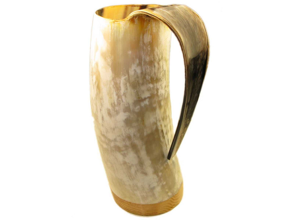 Abbeyhorn natural oxhorn tankard - polished - large