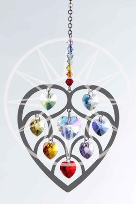 Swarovski® Crystal Chakra Heart of Hearts Ornament | Peach Perfect