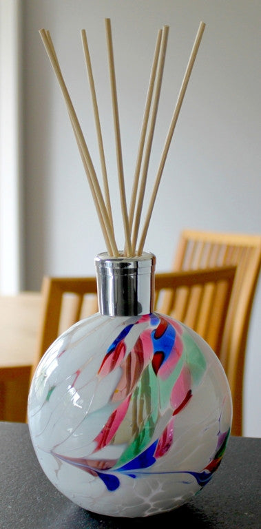 Hand blown Glass diffusers - White - Peach Perfect