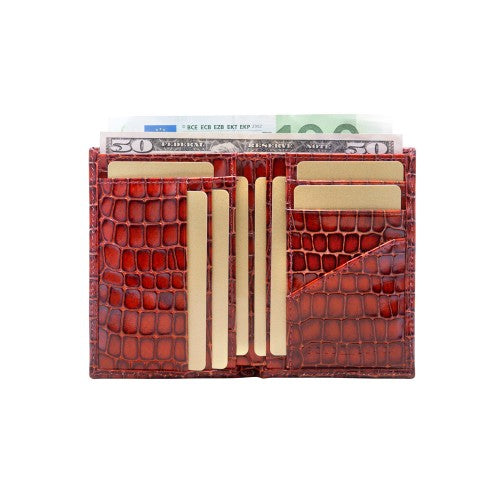 Croco Milano Brown BIFOLD