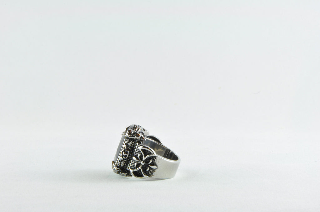 Stainless Steel Facet CZ Rings