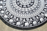 Black & White Elephant Mandala Roundies