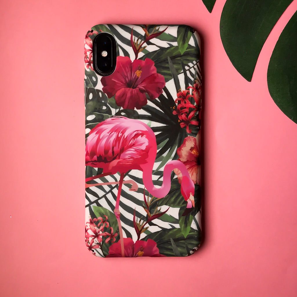Flamingo Floral Case