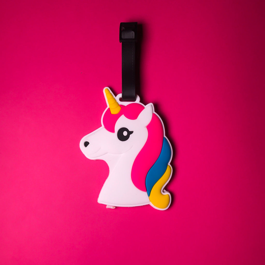 Unicorn Head Fantasy Bag Tag