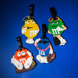 Blue M&M Bag Tag