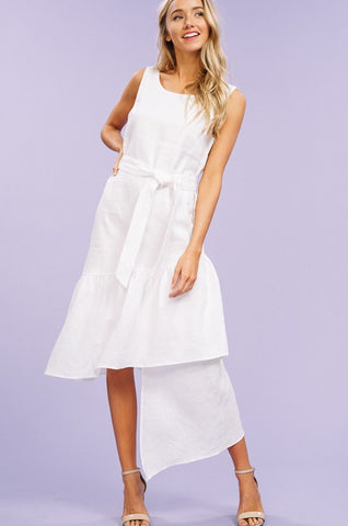 Linen Midi Layer Dress