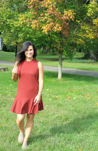 Ribbed Mockneck Dress