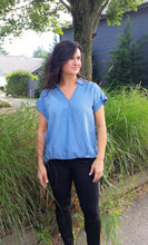 Denim Surplice Top