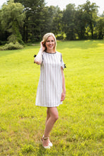 Blanket Stitch Cold Shoulder Dress