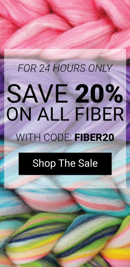 Today only, save 20% on fiber! Use the code FIBER20. Click to shop the fiber collection.