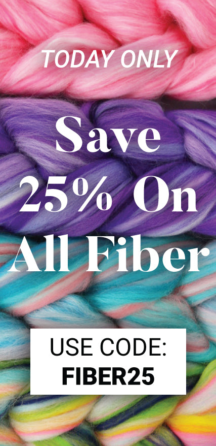 Today only, save 25% on all fiber with the code: FIBER25. Click to shop the sale