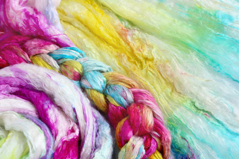 Learn to ice dye with acid dyes