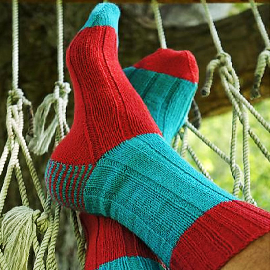 Blue and red Two Tone Socks