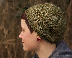barley hat tincanknits kit in harvest and monokrom worsted
