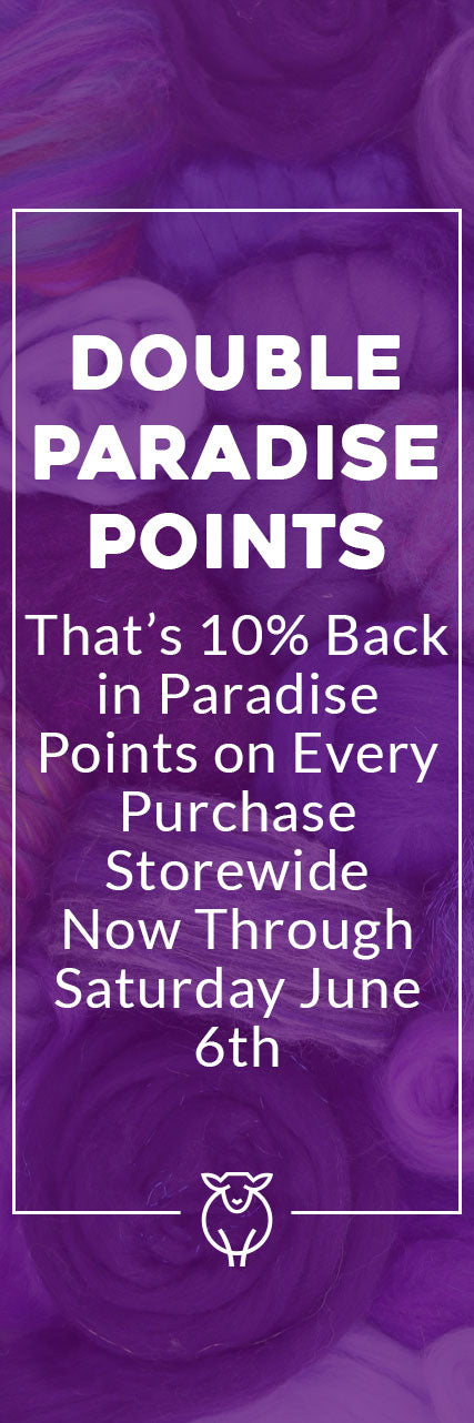 Double Paradise Points Now Through Saturday, June 6th. No code required.