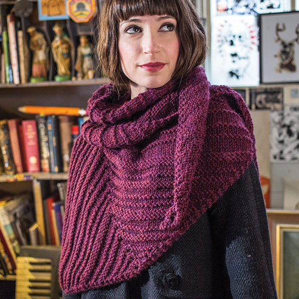 The Duchamp shawl in the color Garnet Mix 72183