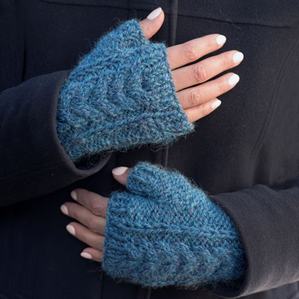 The McKenna fingerless mitts in a the color Starry Night Mix 72193