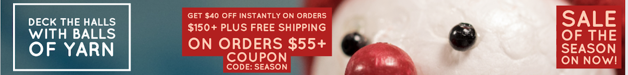 paradise fibers season sale 2016 banner coupon code season