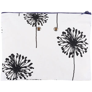 "Yarn POP Knitting Bags-Project Bag-Double 11""X8.5""-B&W Dandelion-"
