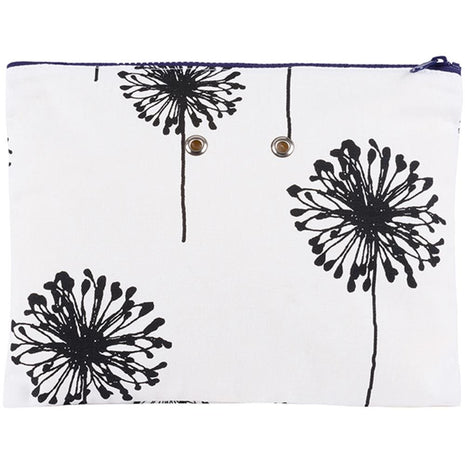 "Yarn POP Knitting Bags Double 11""X8.5"" / B&W Dandelion - 10"