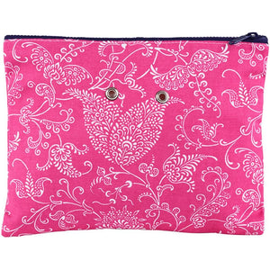 "Yarn POP Knitting Bags-Project Bag-Double 11""X8.5""-Pink Paisley-"