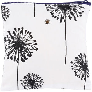 "Yarn POP Knitting Bags-Project Bag-Gadgety 9""X9""-B&W Dandelion-"