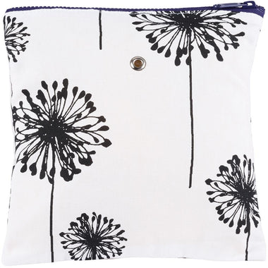 "Yarn POP Knitting Bags Gadgety 9""X9"" / B&W Dandelion - 1"
