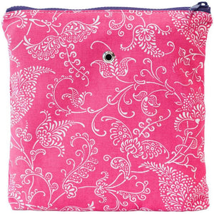 "Yarn POP Knitting Bags-Project Bag-Gadgety 9""X9""-Pink Paisley-"
