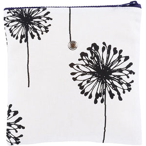 "Yarn POP Knitting Bags-Project Bag-Single 8""X8""-B&W Dandelion-"