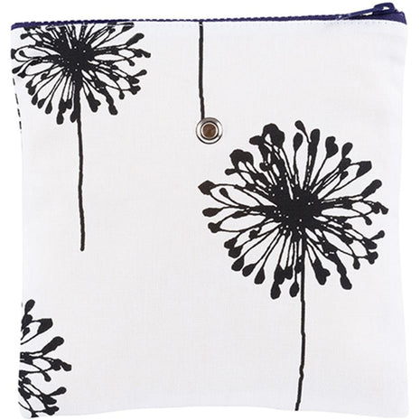 "Yarn POP Knitting Bags Single 8""X8"" / B&W Dandelion - 19"