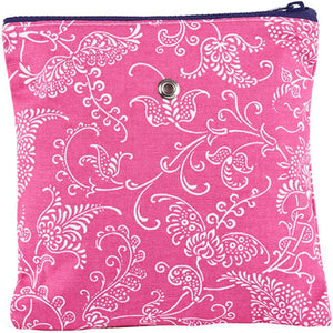 "Yarn POP Knitting Bags-Project Bag-Single 8""X8""-Pink Paisley-"