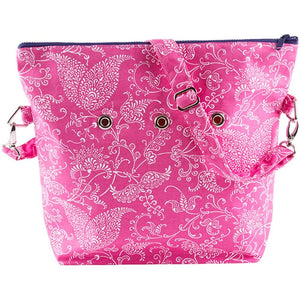 "Yarn POP Knitting Bags-Project Bag-Totable 15""X12""X4""-Pink Paisley-"