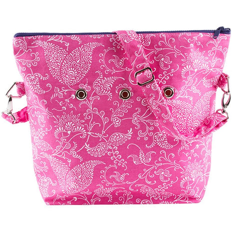 "Yarn POP Knitting Bags Totable 15""X12""X4"" / Pink Paisley - 36"