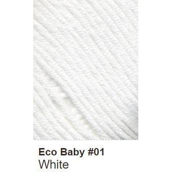 Debbie Bliss Eco Baby Yarn - Solids White 01 - 1